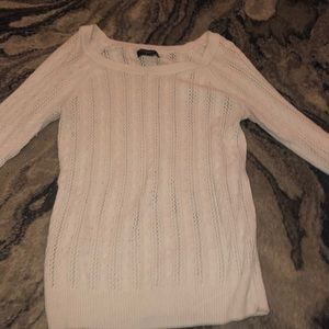 White/Eggshell colored Long sleeve sweater shirt